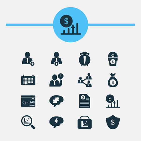 Team icons set with contract, add to team, challenge and other date elements. Isolated vector illustration team icons.