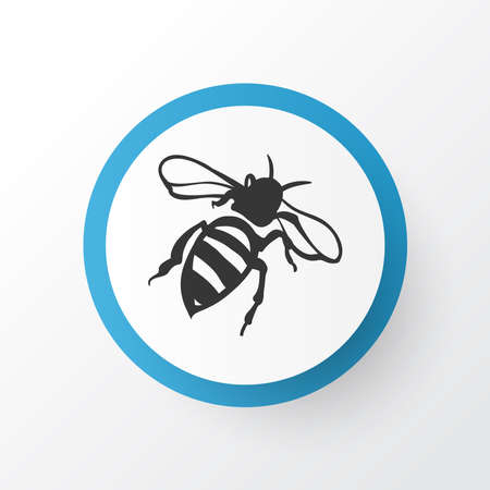 Bee icon symbol. Premium quality isolated sting element in trendy style.