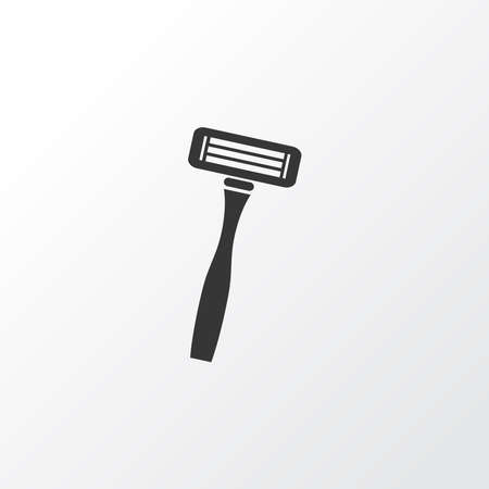 Shaving razor icon symbol. Premium quality isolated blade element in trendy style.
