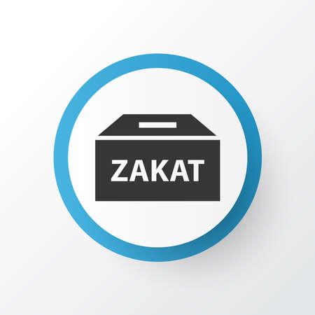 Zakat icon symbol. Premium quality isolated money box element in trendy style.