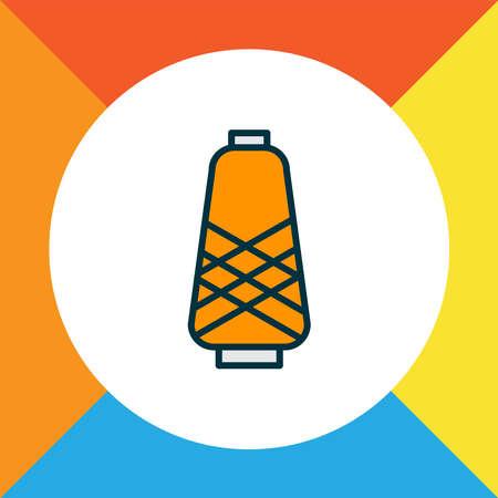 Spool icon colored line symbol. Premium quality isolated bobbin element in trendy style.