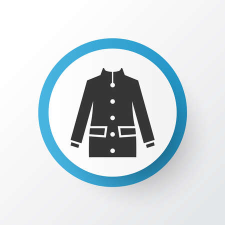 Coat icon symbol. Premium quality isolated jacket element in trendy style.