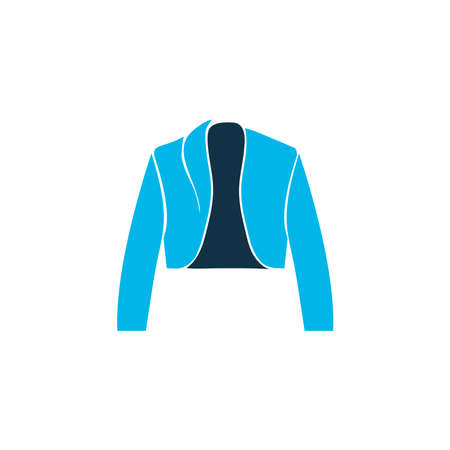 Belero icon colored symbol. Premium quality isolated blazer element in trendy style.