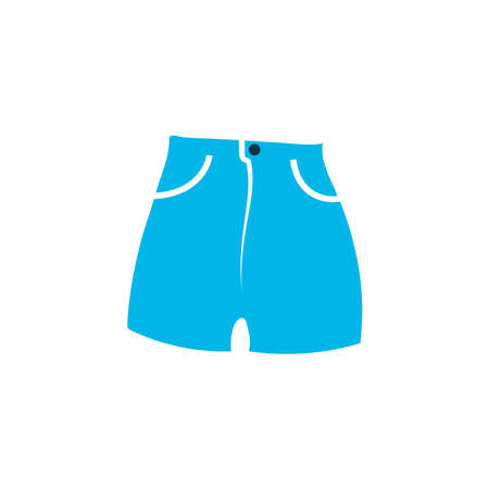 High waist shorts icon colored symbol. Premium quality isolated beachwear element in trendy style.