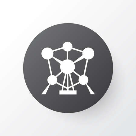 Atomium icon symbol. Premium quality isolated connection element in trendy style.