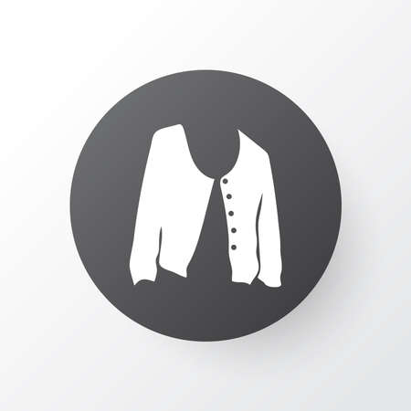 Short cardigan icon symbol. Premium quality isolated jacket element in trendy style. 일러스트