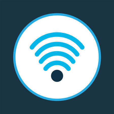 Wifi icon colored symbol. Premium quality isolated wireless connection element in trendy style. Ilustracja