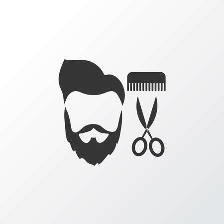 Barbershop icon symbol. Premium quality isolated salon element in trendy style.