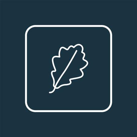 Oak leaf icon line symbol. Premium quality isolated design element in trendy style.