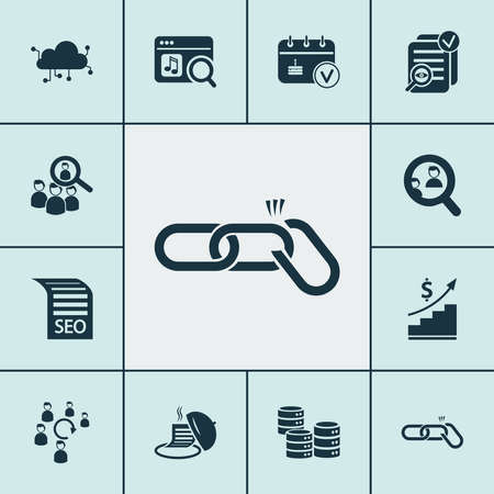 Business icons set with startup, audience engagement, cloud computing and other tray elements. Isolated vector illustration business icons. Ilustración de vector