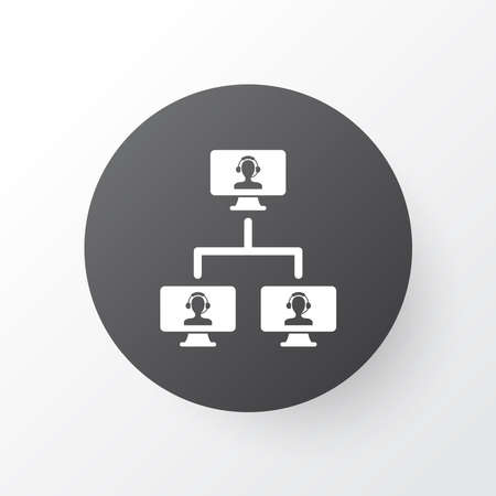 Linked computers icon symbol. Premium quality isolated computing system element in trendy style.