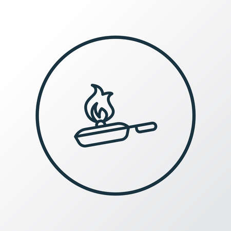 Cooking icon line symbol. Premium quality isolated pan element in trendy style. Illustration