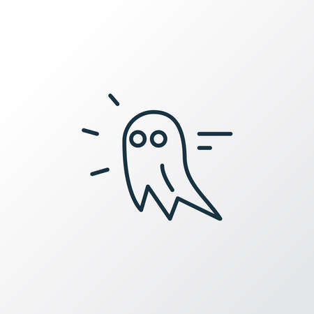 Game ghost icon line symbol. Premium quality isolated halloween element in trendy style.