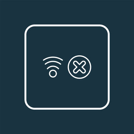 No network icon line symbol. Premium quality isolated stop wifi element in trendy style.