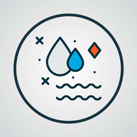 Clean water icon colored line symbol. Premium quality isolated drop element in trendy style.