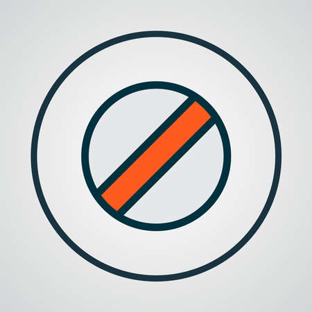 Disabled icon colored line symbol. Premium quality isolated ban element in trendy style.