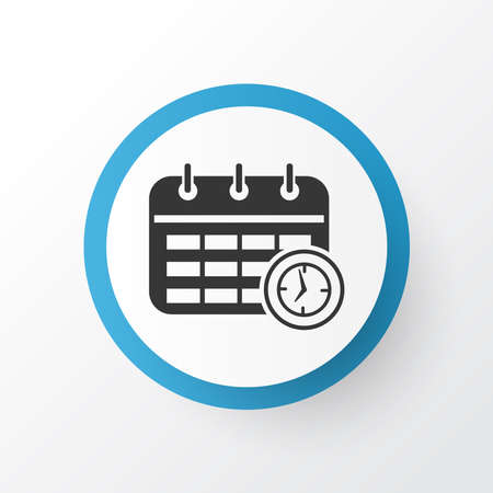 Time planning icon symbol. Premium quality isolated schedule element in trendy style.