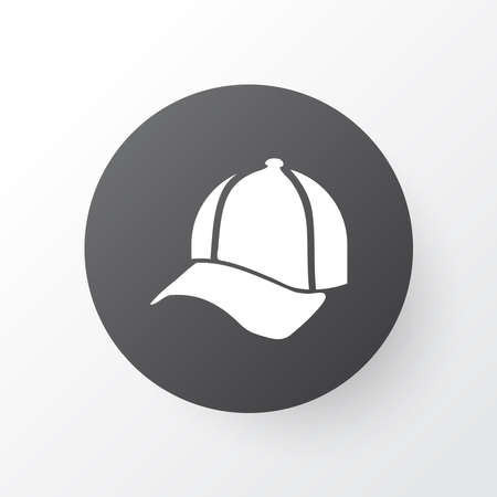 Cap icon symbol. Premium quality isolated baseball hat element in trendy style.