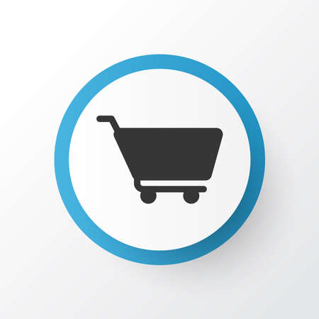 Cart icon symbol. Premium quality isolated shopping trolley element in trendy style.