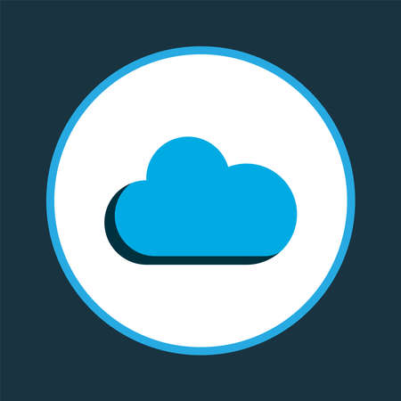 Overcast icon colored symbol. Premium quality isolated cloud element in trendy style.  イラスト・ベクター素材