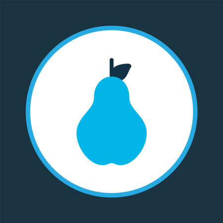Pear icon colored symbol. Premium quality isolated duchess element in trendy style.