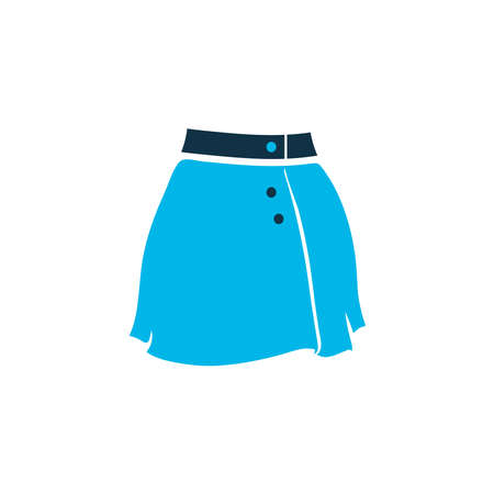Garment icon colored symbol. Premium quality isolated short skirt element in trendy style.