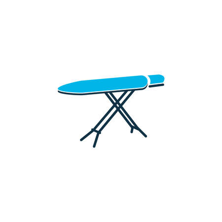 Ironing board icon colored symbol. Premium quality isolated flatiron element in trendy style.