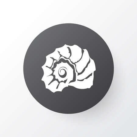 Shell icon symbol. Premium quality isolated scallop element in trendy style. 写真素材