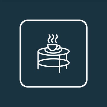 Coffee table icon line symbol. Premium quality isolated teatime element in trendy style.