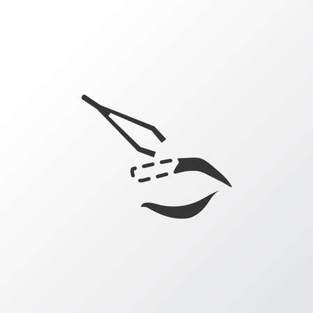 Eyebrow plucking icon symbol. Premium quality isolated tweezers element in trendy style.