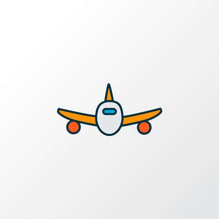 Plane icon colored line symbol. Premium quality isolated aircraft element in trendy style. Illusztráció