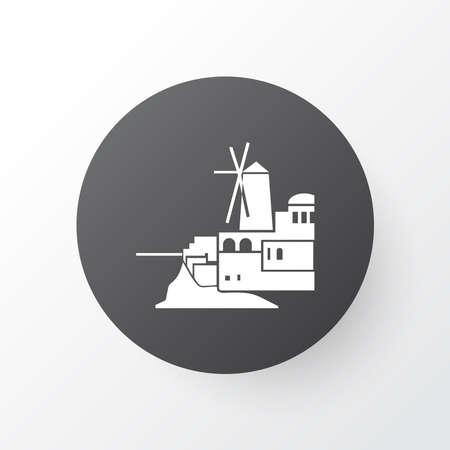 Santorini icon symbol. Premium quality isolated greece element in trendy style. Stock fotó