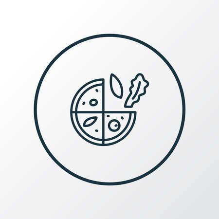 Vegetarian pizza icon line symbol. Premium quality isolated pizzeria element in trendy style.