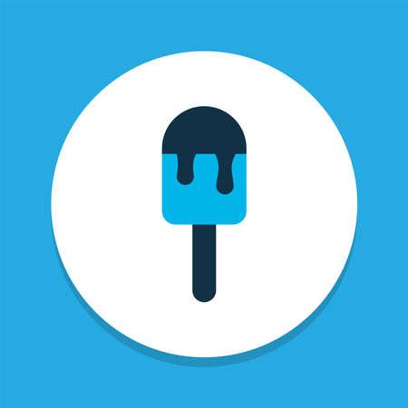 Ice pop icon colored symbol. Premium quality isolated ice cream element in trendy style.