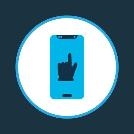 Team communication icon colored symbol. Premium quality isolated smartphone element in trendy style. Illusztráció