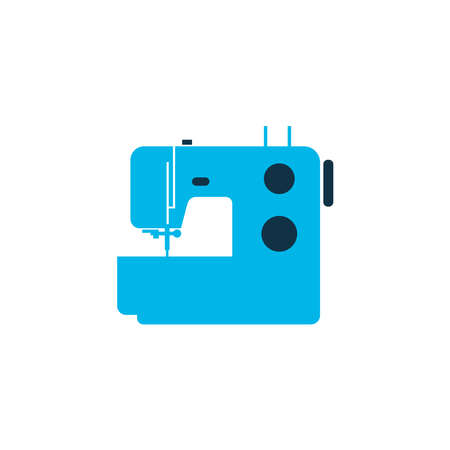 Sewing machine icon colored symbol. Premium quality isolated knitting machine element in trendy style.