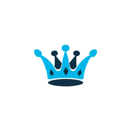 Crown icon colored symbol. Premium quality isolated queen element in trendy style. Stock fotó