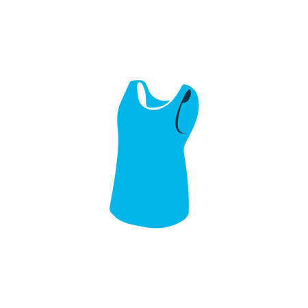 Sleeveless shirt icon colored symbol. Premium quality isolated clothes element in trendy style.
