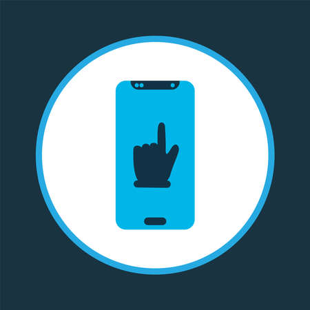 Team communication icon colored symbol. Premium quality isolated smartphone element in trendy style. Stock fotó