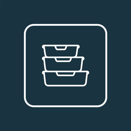 Food containers icon line symbol. Premium quality isolated storage element in trendy style. Stock fotó - 140132083