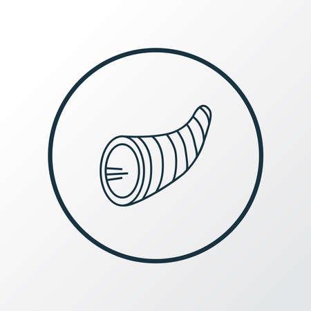 Cornucopia icon line symbol. Premium quality isolated wicker element in trendy style. Vectores
