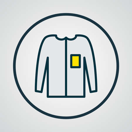 Long sleeve icon colored line symbol. Premium quality isolated casual element in trendy style.
