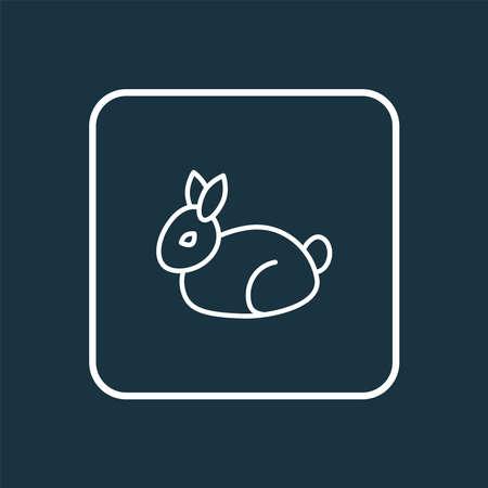 Rabbit icon line symbol. Premium quality isolated bunny element in trendy style.