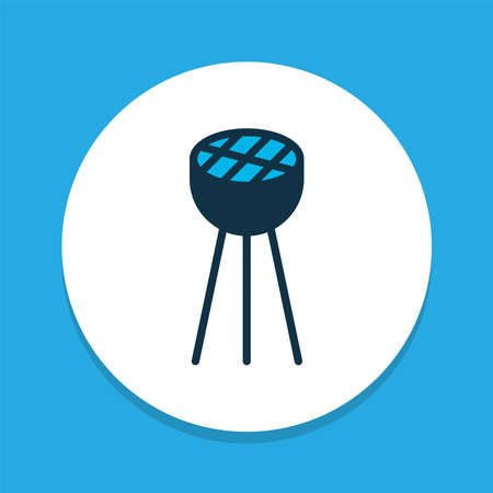 Bbq icon colored symbol. Premium quality isolated barbecue element in trendy style.