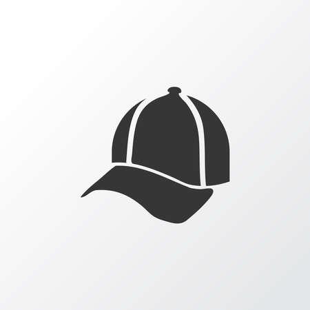 Cap icon symbol. Premium quality isolated baseball hat element in trendy style.