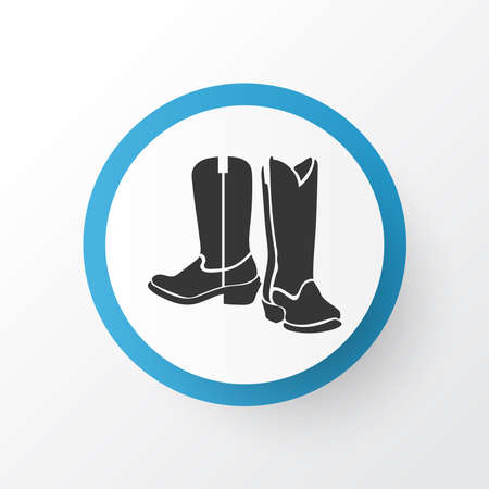 Cowboy boots icon symbol. Premium quality isolated rodeo element in trendy style.