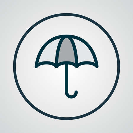 Meal icon colored line symbol. Premium quality isolated umbrella element in trendy style.