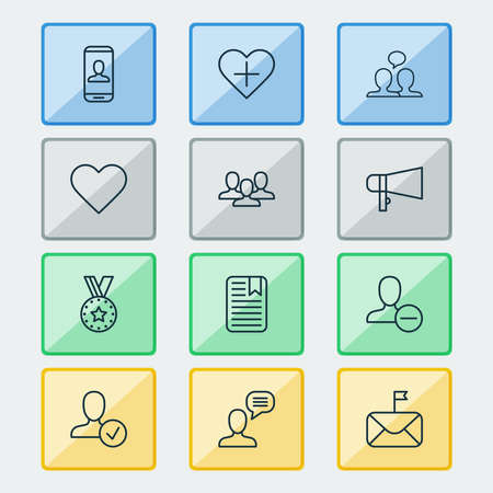 Social icons set with dialogue, delete, staff and other note page elements. Isolated vector illustration social icons.