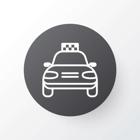 Taxi icon symbol. Premium quality isolated car vehicle element in trendy style.