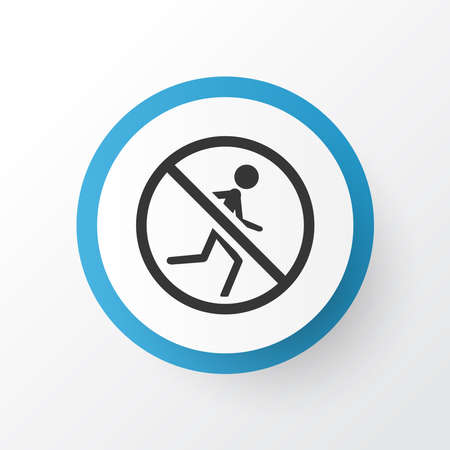 Not running icon symbol. Premium quality isolated caution element in trendy style.